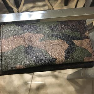 Coach camo wallet phone holder nwot